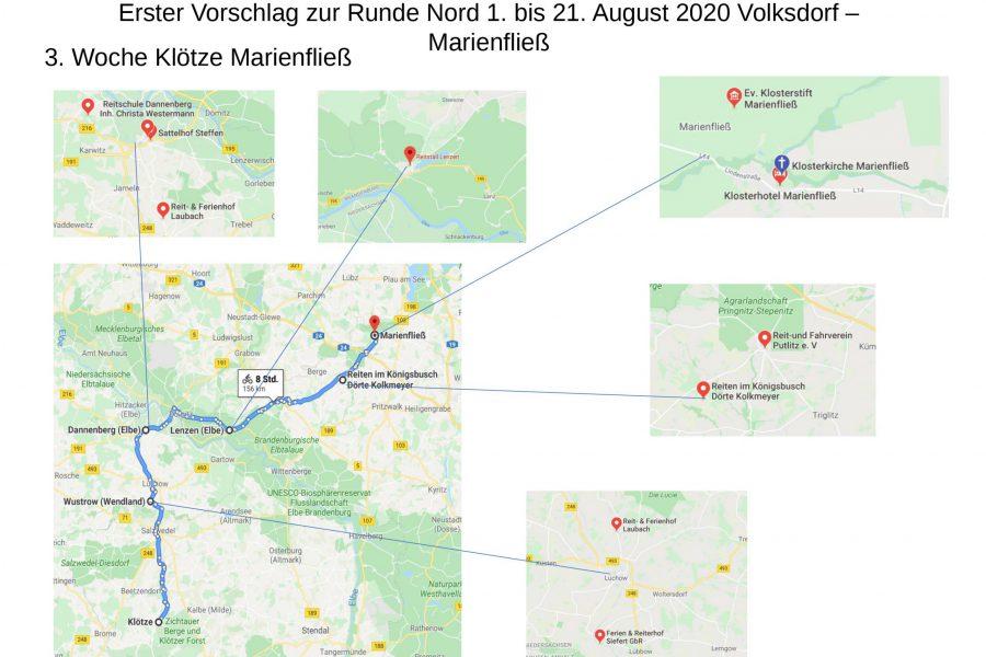 Nordtreck 2020: Von Hamburg nach Marienfließ
