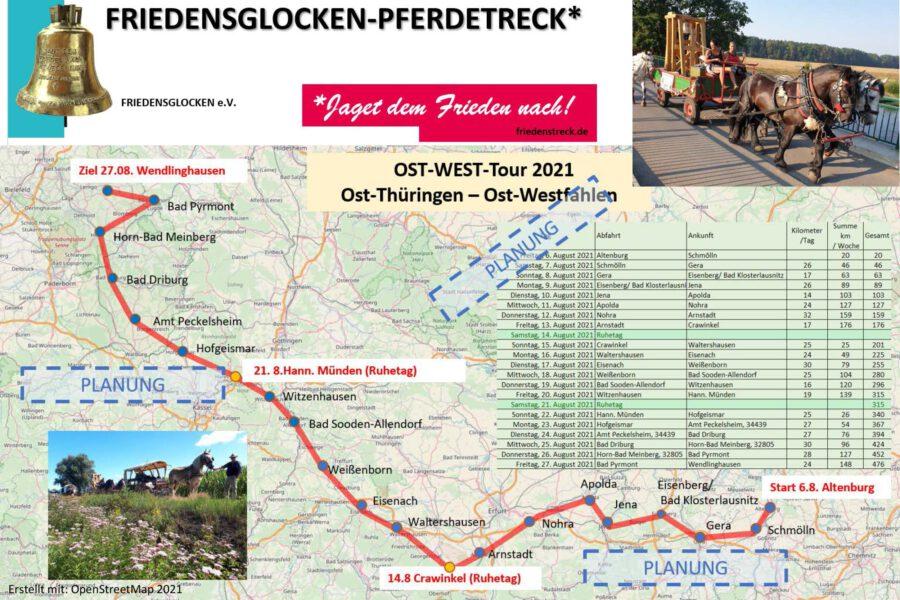 """Pressekonferenz """"Ost-West Pferdefriedenstreck 2021"""""""