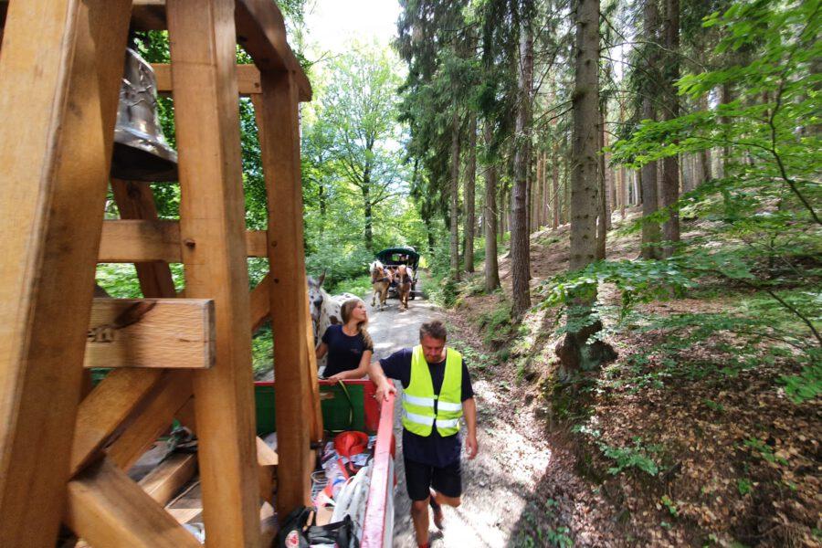 Friedensglocke im Thüringer Wald