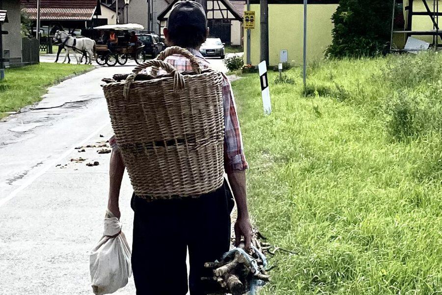 In manchen thüringischen Dörfern, die der Friedenstreck passie